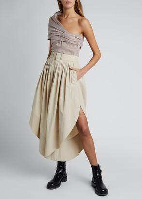 Chloé Cotton Poplin High-Waist Culotte Pants