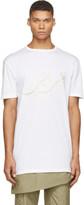 Thamanyah White Embroidered Logo T-Shirt