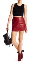 Jolt Faux Leather Mini Skirt