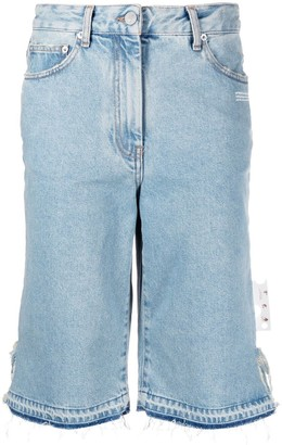 Off-White Denim Knee-Length Shorts