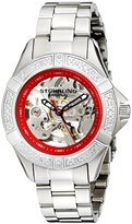 Stuhrling Original Women's 331.121156 Aquadiver Regatta Skeleton Automatic Diamond Red Dial Watch