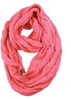 NYfashion101 Soft Warm Chunky Cable Knit Infinity Loop Scarf - 2 Tone Gray