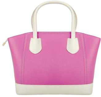 Vangoddy Dulce Ladies Glossy PU Leather Satchel Shoulder Bag with Gleaming Belt Buckle Design