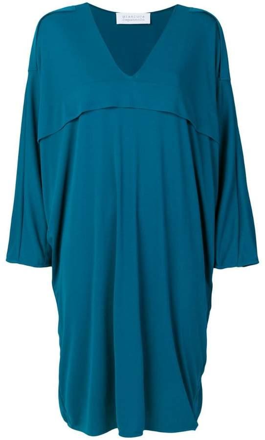 Gianluca Capannolo V-neck flared dress