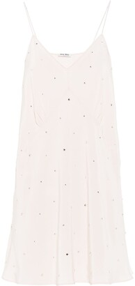 Miu Miu crepe de Chine crystal dress