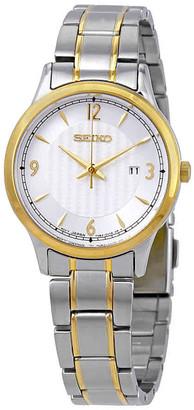 Seiko Classic Silver Dial Two-tone Ladies Watch SXDG94P1