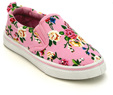 Jelly Beans Pink Floral Slip-On Sneaker