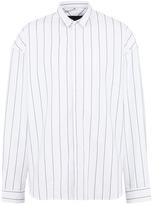 Juun.J 'ARCHIVE' embroidered stripe shirt