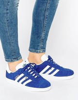 adidas Royal Blue Suede Gazelle Unisex Sneakers