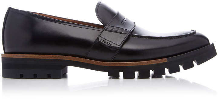 Bally Barox Leather Penny Loafers
