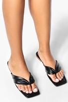 Thumbnail for your product : boohoo Soft Toe Post Flat Sandal