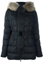 Moncler 'Clio' jacket - women - Feather Down/Polyamide/Racoon Fur - 1