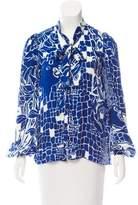 Emilio Pucci Button-Up Silk Top