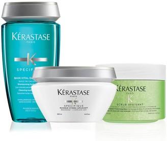 Kérastase Fusio Scrub Sensitive Scalp Home Treatment Hair Care Set