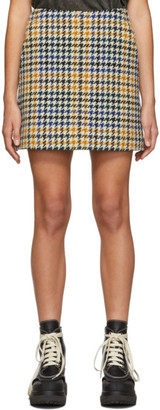 McQ Multicolor Check Topstitch Miniskirt