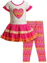 Youngland Toddler Girl Ruffled Tutu Top & Leggings Set