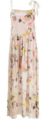 Semi-Couture Floral Print Maxi Dress