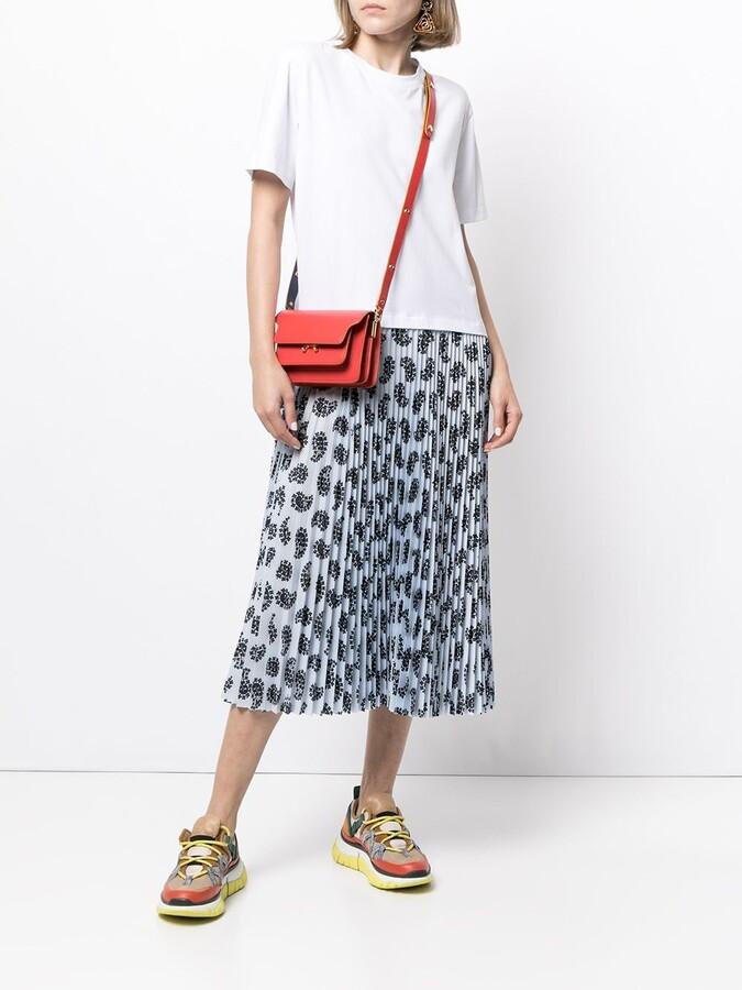 MSGM pleated-skirt layered T-shirt dress