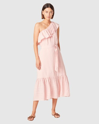 French Connection Women's Dresses - One Shoulder Textured Dress - Size One Size, 8 at The Iconic