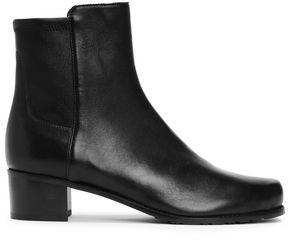 Stuart Weitzman Paneled Leather Ankle Boots