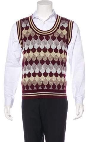 Gucci Wave Pattern Wool-Blend Sweater Vest