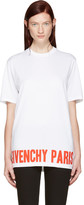 Givenchy White Logo T-shirt