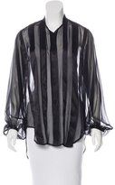 ADAM by Adam Lippes Striped Silk Blouse