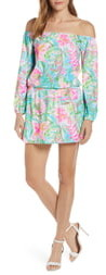 Lilly Pulitzer Lana Long Sleeve Off the Shoulder Skort Romper
