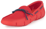 Swims Braided Bow Water-Resistant Loafer, Red/Blue