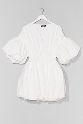 Nasty Gal Womens Make an Entrance Puff Mini Dress - White
