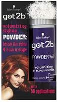 Schwarzkopf got2b POWDERful Volumising Styling Powder, volume booster for texture & hairstyles with volume, powder for style & finish, pack: 6 x 10g