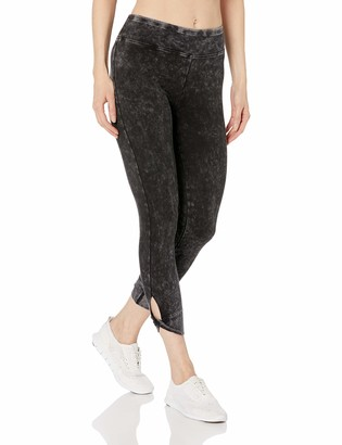 Andrew Marc Women's Mineral wash 7/8th Legging with twited Key Hole Cuff