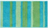 InterDesign Microfiber Stripz Bathroom Shower Accent Rug, 34 x 21, Blue/Green