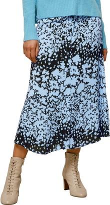 Whistles Brushed Animal Print Midi Skirt
