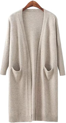 Goodnight Macaroon 'Carrie' Open Wrap Pocket Long Cardigan