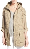 Sam Edelman Women's Roll Sleeve Cotton Twill Utility Jacket
