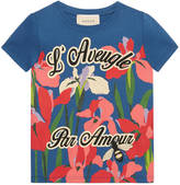 Gucci Children's pond print t-shirt