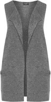 Via Appia Plus Size Long knitted waistcoat