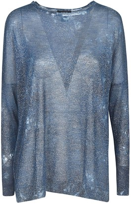 Avant Toi Glitter Applique Sweater