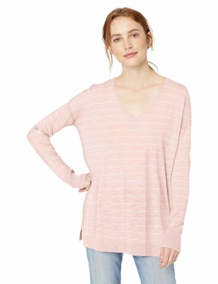 Daily Ritual Amazon Brand Women's Lightweight V-Neck Tunic Pullover Sweater