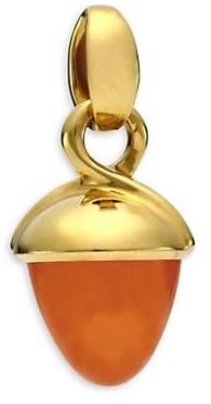 Tamara Comolli Mikado Bouquet 18K Yellow Gold & Mandarin Garnet Acorn Pendant