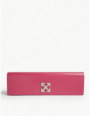 Off-White Leather Jitney 2.2 long clutch bag
