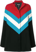 MSGM colour-block tailored coat