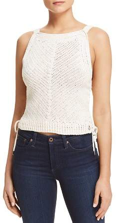 Scotch & Soda Side Tie Crochet Tank