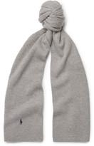 Polo Ralph Lauren Ribbed-knit Merino Wool Scarf - Gray