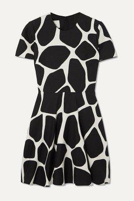 Valentino Printed Wool And Silk-blend Crepe Mini Dress - Ivory