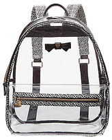 Betsey Johnson Bow Clear Backpack