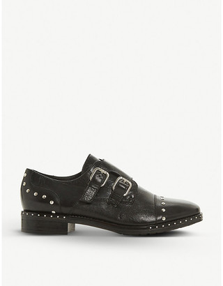 Dune Gryffin stud-detail leather brogues
