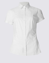 M&S Collection Cotton Rich Short Sleeve Shirt