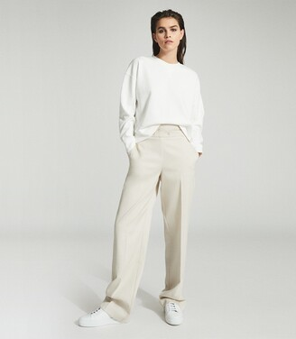 Reiss Brooke - Relaxed Loungewear Sweatshirt in White
